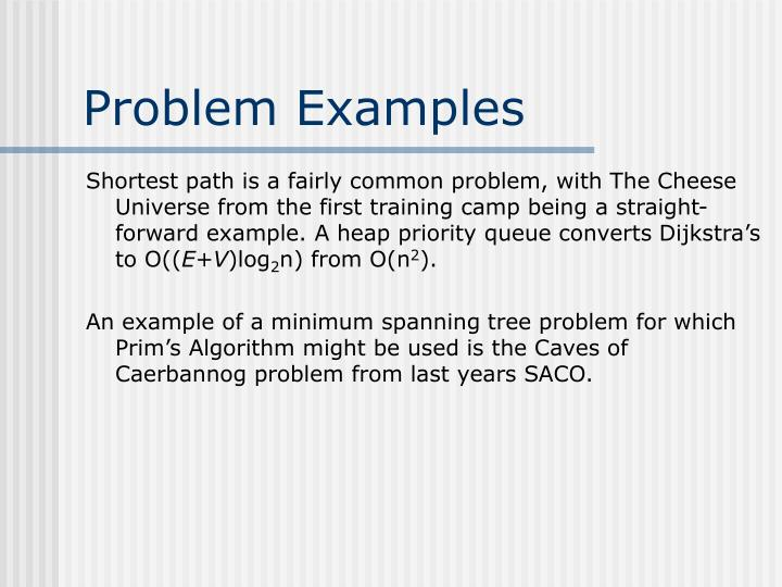 Problem Examples