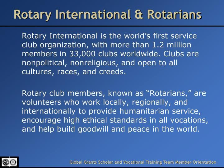 Rotary International & Rotarians