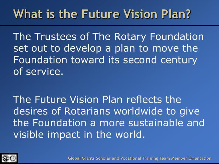 What is the Future Vision Plan?