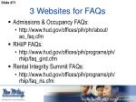 3 websites for faqs