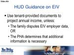 hud guidance on eiv3