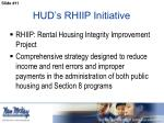 hud s rhiip initiative