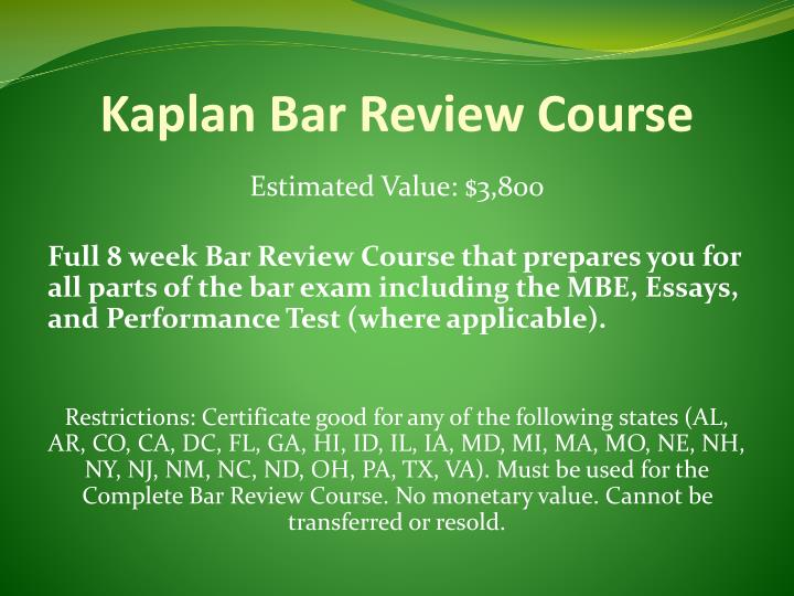 Kaplan Bar Review Course