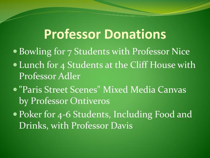 Professor Donations