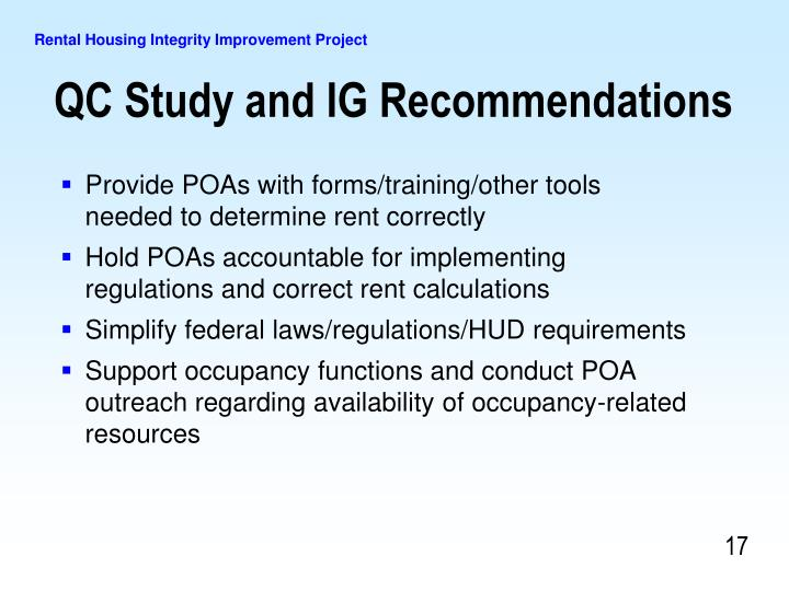 Provide POAs with forms/training/other tools needed to determine rent correctly