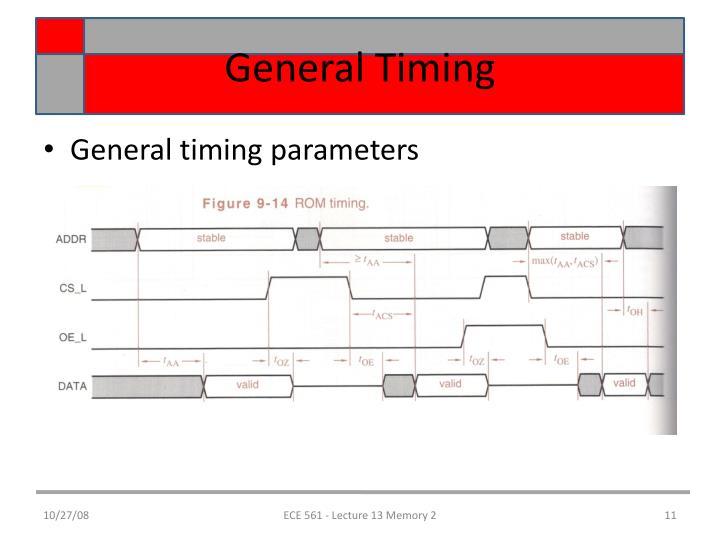 General Timing