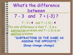 what s the difference between 7 3 and 7 3