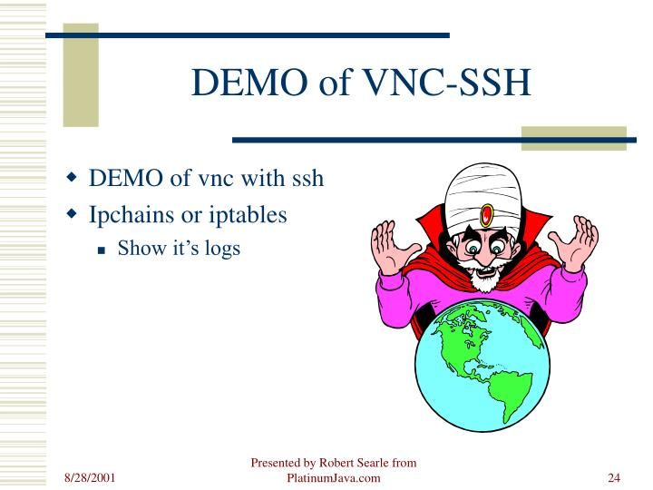 DEMO of VNC-SSH