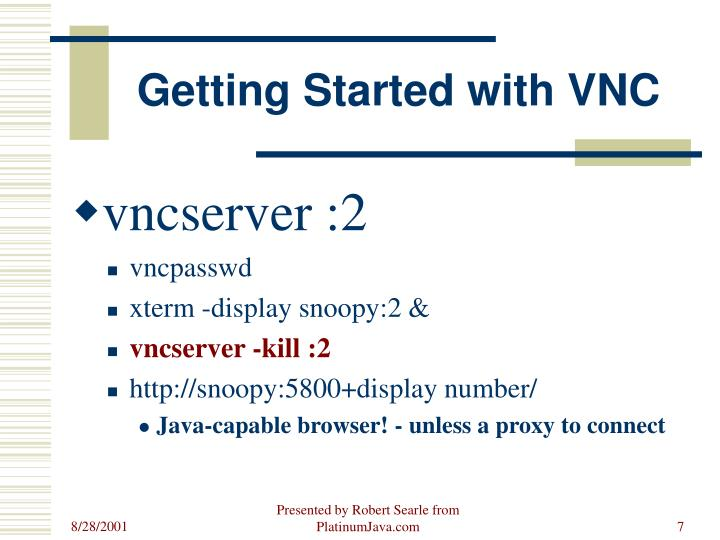 Getting Started with VNC