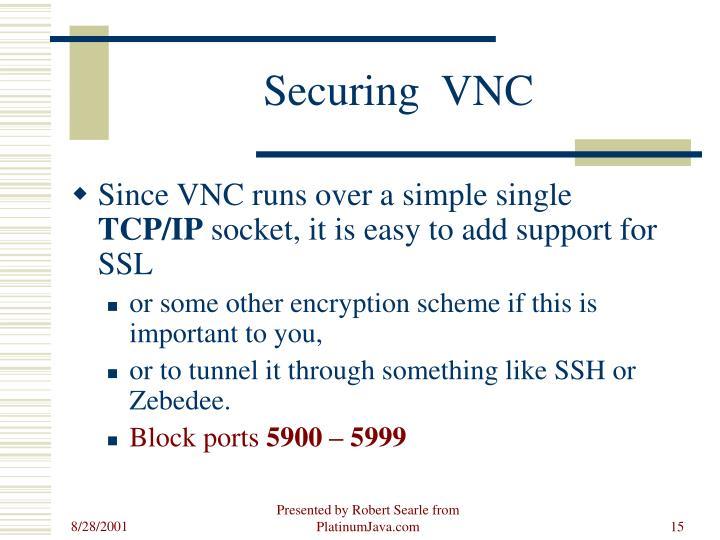 Securing  VNC