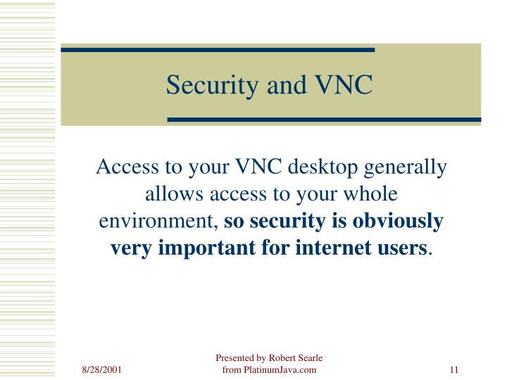 Security and VNC