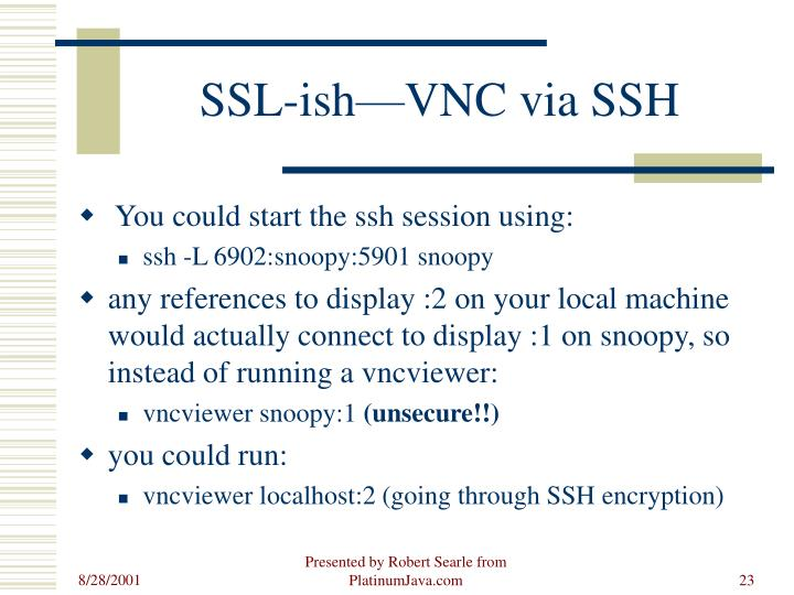 SSL-ish—VNC via SSH