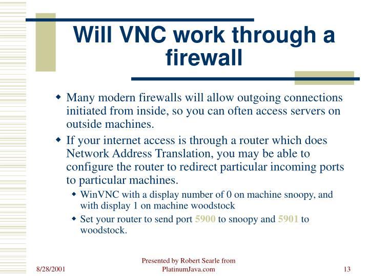 Will VNC work through a firewall