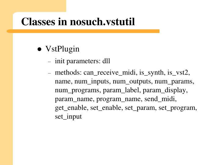 Classes in nosuch.vstutil