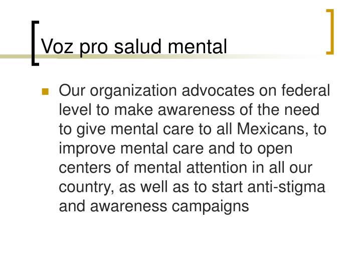 Voz pro salud mental