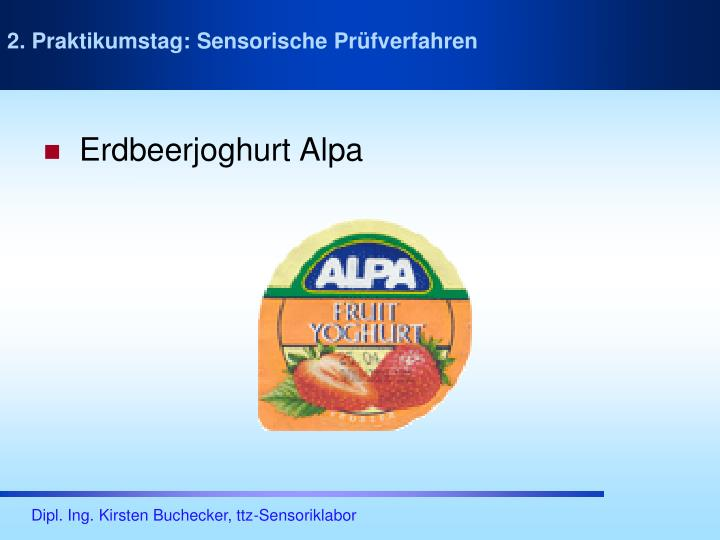 Erdbeerjoghurt Alpa