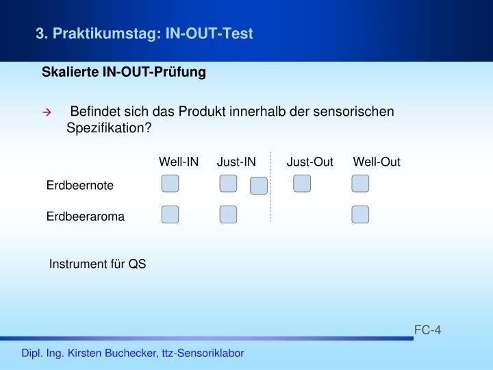 3. Praktikumstag: IN-OUT-Test