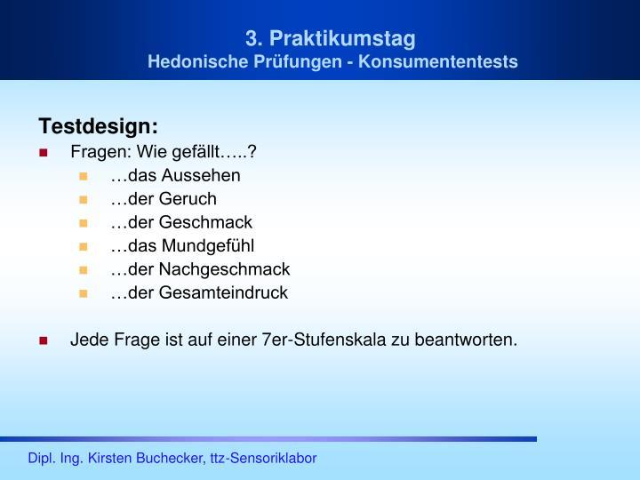 Testdesign: