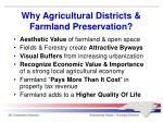 why agricultural districts farmland preservation
