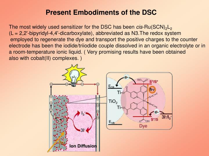 Present Embodiments of the DSC