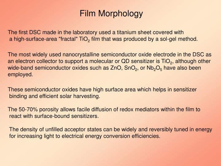 Film Morphology