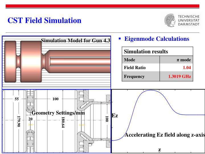 CST Field Simulation