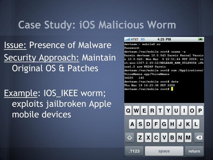 Case Study: iOS Malicious Worm
