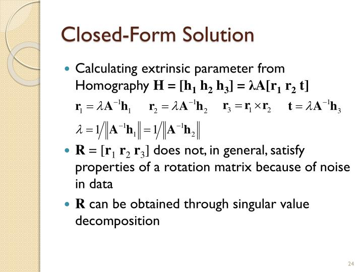 Closed-Form Solution