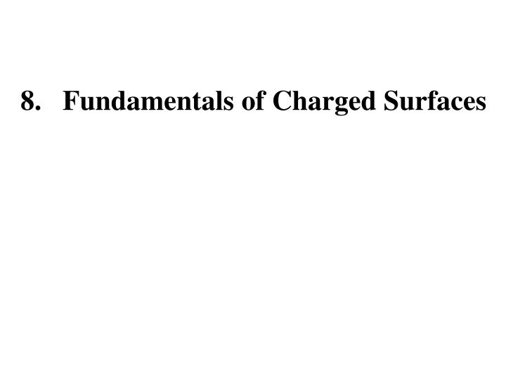 8.   Fundamentals of Charged Surfaces