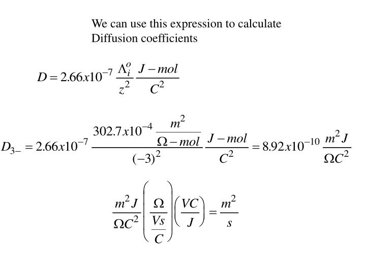 We can use this expression to calculate