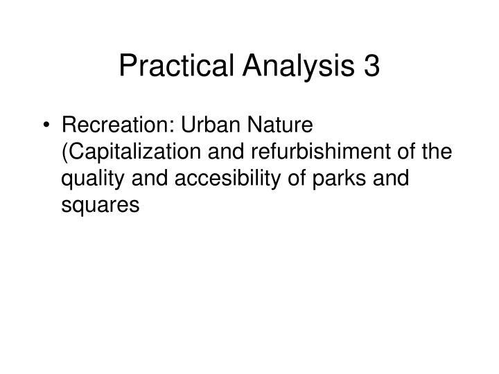 Practical Analysis 3