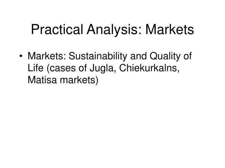 Practical Analysis: Markets