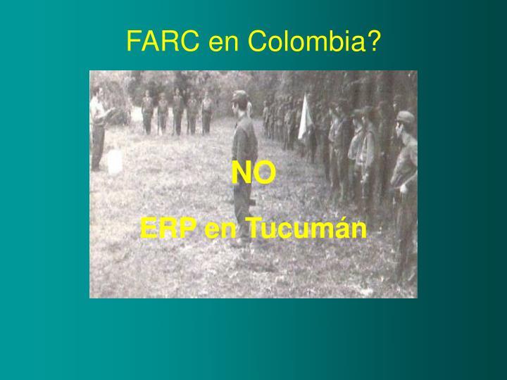 FARC en Colombia?