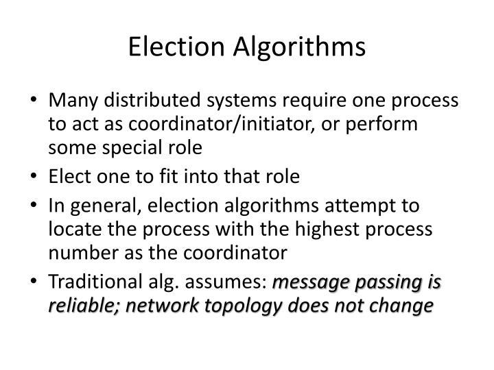 Election Algorithms