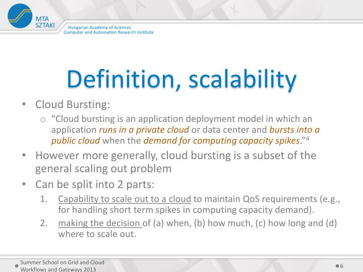 Definition, scalability