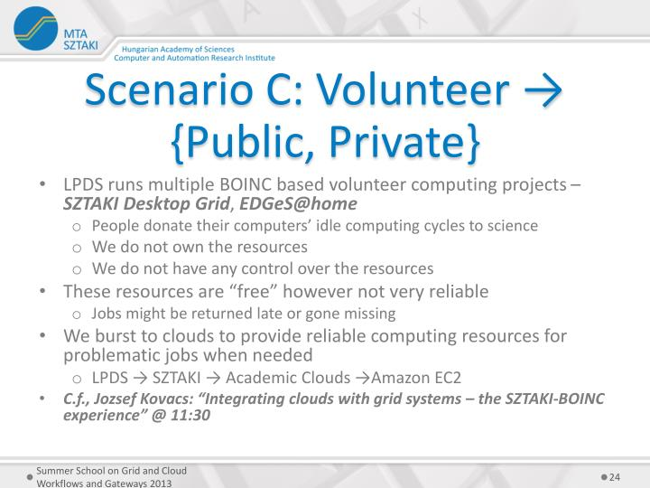 Scenario C: Volunteer → {Public, Private}
