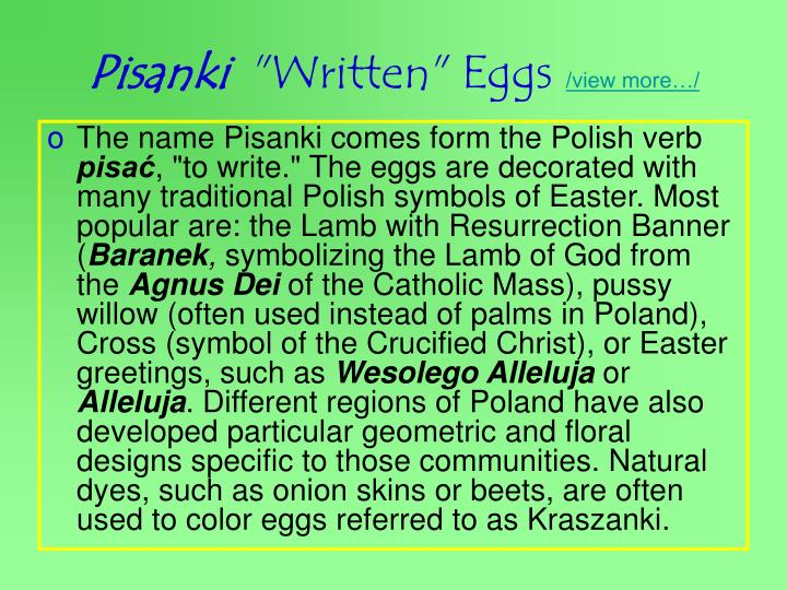 Pisanki written eggs view more