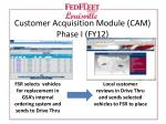 customer acquisition module cam phase i fy12