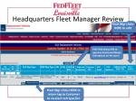 headquarters fleet manager review