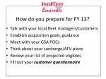 how do you prepare for fy 13