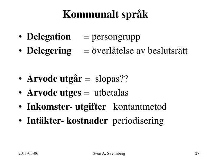 Kommunalt språk