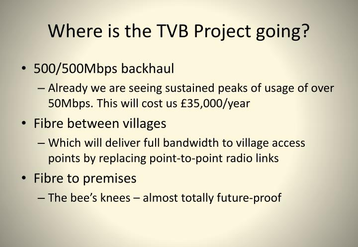 Where is the TVB Project going?