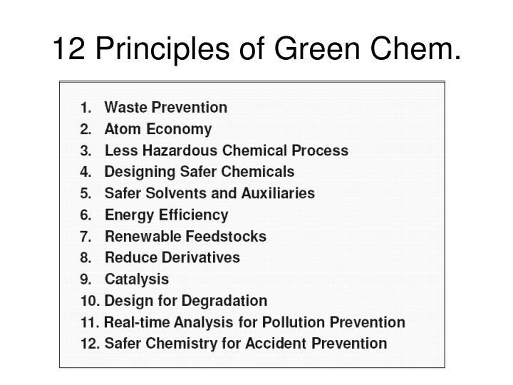 12 Principles of Green Chem.