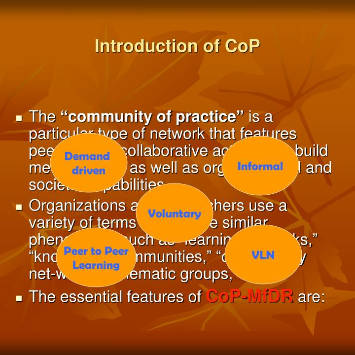 Introduction of cop