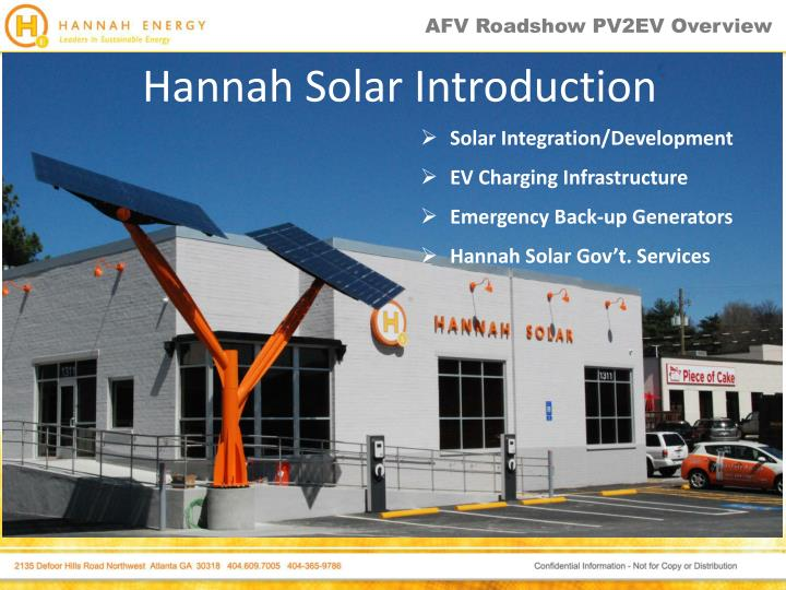 hannah solar introduction n.