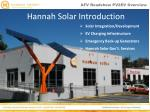 hannah solar introduction