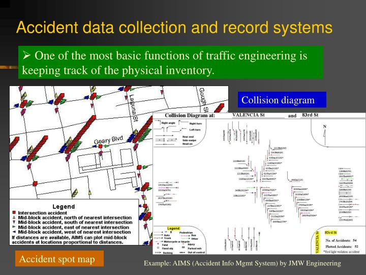 Accident data collection and record systems