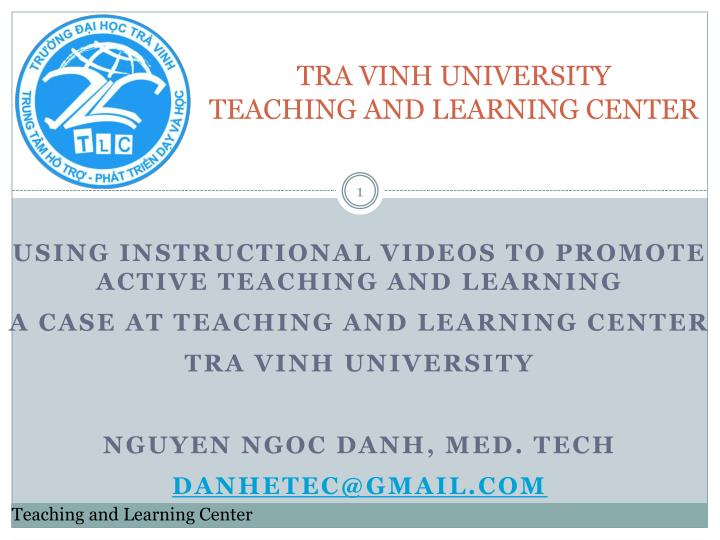 tra vinh university teaching and learning center n.