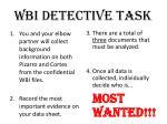 wbi detective task