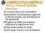 process capacity building dimension